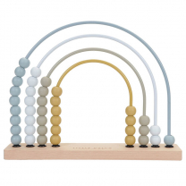 MODRO leseno abakus računalo mavrica (12m+), Little Dutch - NOVO