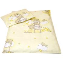 Rumena 2-delna posteljnina za zibko MEDVEDKI 50x70 cm
