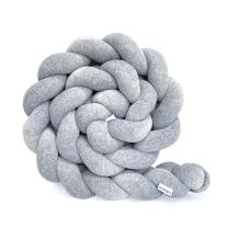 Kitka za otroško posteljico (200 cm), MELANGE SIVA