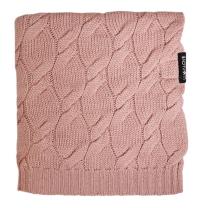 Umazano roza MERINO volnena pletena odeja LULLALOVE 80x100 cm - PREMIUM