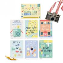 MILESTONE™ kartice za fotografiranje dojenčka SLO -  First Travel Moment