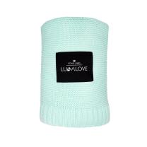 Mint bambusova pletena odeja LULLALOVE 80x100 cm