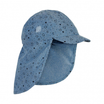 Jeans moder klobuček - kapa s šiltom za dojenčka z UV zaščito (UPF 50+) 1-2 leti – FADED DENIM ZVEZDICE, En Fant