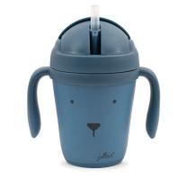 Moder otroški lonček za pitje ANIMAL CLUB Steel blue, Jollein