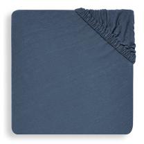 Modra jogi rjuha 80/90x40 cm JEANS BLUE, bombažni jersey, Jollein®