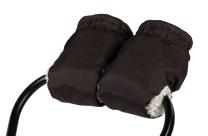 TEMNO RJAVE muf rokavice za voziček - KREMNO BEL flis BabayMax