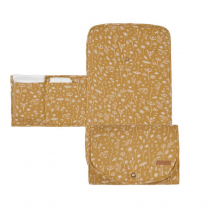 Mustard komfortna previjalna podloga WILD FLOWERS 70x36 cm, Little Dutch