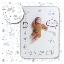 Kremno bela odejica Photo-blanket® PALE SAFARI 80x100 cm, Snap the moment SLO