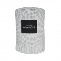 siva odeja iz bambusa 100x120 cm