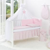 Otroški baldahin - komarnik roza zvezda Mamo-Tato