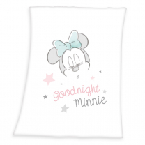 Bela-roza odeja Minnie Mouse 75x100cm, ©DISNEY