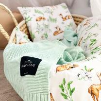 Bela 2-delna posteljnina SRNICA 60x75 cm, Largo