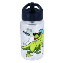 Navy modra otroška steklenička T-REX z rolko (450 ml), Pret