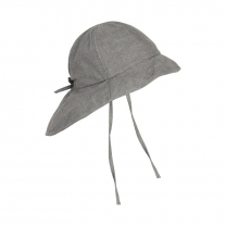 Jeans siv otroški klobuček z UV zaščito (UPF 50+) 6-12 m, MID GREY MELANGE – En Fant