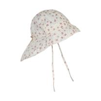 Kremno bel otroški klobuček z UV zaščito (UPF 50+) 2-4 leta, OLD ROSE METULJČKI – En Fant