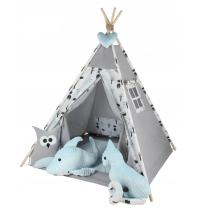 Siv -moder ŠOTOR TIPI bambi in gozd Babymax