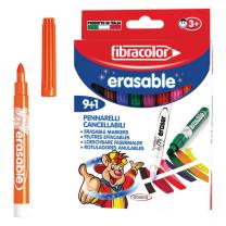 Debeli otroški flomastri ERASABLE Fibracolor 9+1