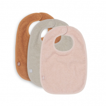 Otroški slinčki frotir pale pink, nougat, caramel (3 kosi), Jollein