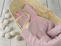 Pudrasto roza odeja in vzglavnik iz muslina s polnilom PUHLICE - 75x100 cm, Betulli