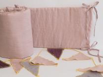 Lanena obroba za posteljico