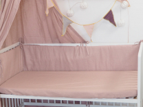 siva lanena rjuha za vzmetnico 140x70 cm