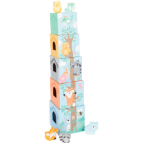 Pastelni stolp za zlaganje (12m+), Small Foot