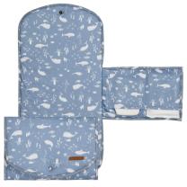 Modra komfortna previjalna podloga Ocean Blue 70x36 cm, Little Dutch