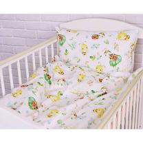 Bela 2-delna posteljnina ČEBELICE IN PIKAPOLONICE 120x90 cm, Largo