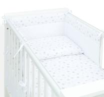 BELA 3-delna posteljnina ZVEZDICE 120x90 cm, MAMO-TATO