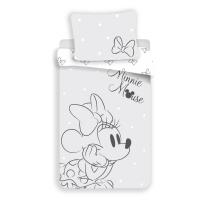 Siva posteljnina Minnie Mouse - pentlja