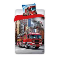 Posteljnina gasilni tovornjak skylift 140x200 cm