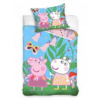 Otroška posteljnina Pujsa Pepa v naravi 140x200 cm