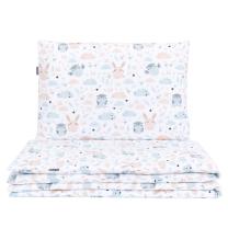 BELA 2-delna posteljnina SOVICA IN ZAJČEK 120x90 cm, MAMO-TATO