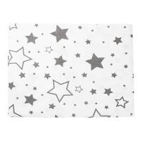 Bela 2-delna posteljnina SIVE velike in majhne zvezdice 150x120 cm Largo