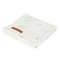 Bela swaddle odejica 120 x 120 cm - Ocean White, Little Dutch