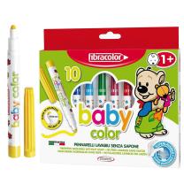 Debeli otroški flomastri BABY COLOR Fibracolor, komplet 10