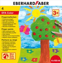 Otroške PRSTNE BARVE Eberhard Faber, komplet 4 barv