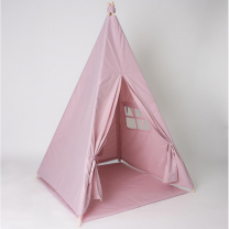 Pudrasto roza šotor Babo Tipi, podloga 100x100 cm