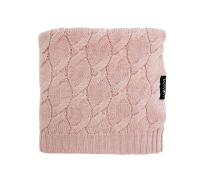 Pudrasto roza MERINO volnena pletena odeja LULLALOVE 80x100 cm - PREMIUM