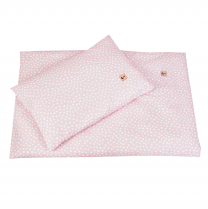Pudrasto roza posteljnina LArgo 150x120
