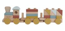 rdeč lesen vlak, little dutch