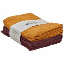 Rjave in mustard tetra pleničke iz organskega bombaža (4 KOSI) Pippi®