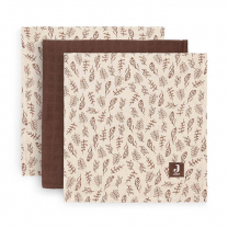 Rjave tetra plenice Meadow CHESTNUT (70X70 cm) – 3 kosi, Jollein®