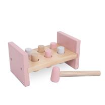 Roza lesena igrača s kladivom (12m+), Jollein