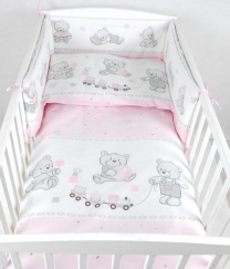 Roza 3-delna posteljnina MEDVEDEK VLAKEC 135x100 cm
