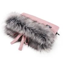 Pudrasto roza enojna rokavica za voziček (univerzalna), Cottonmoose