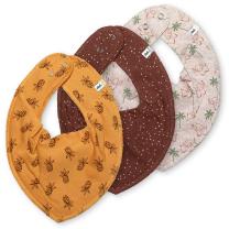 Bež rutka-slinček – slonček, ananas in pikice (3 kosi), Pippi®
