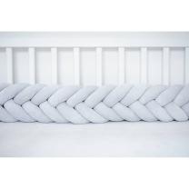 Kitka RIBJA KOST za otroško posteljico (200 cm), SVETLO SIVA