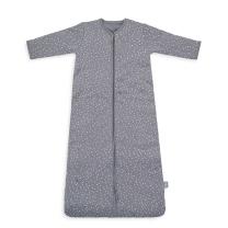 Siva spalna vreča PIKICE NEPRAVILNIH OBLIK 4-SEASONS, 6-18 m, Jollein