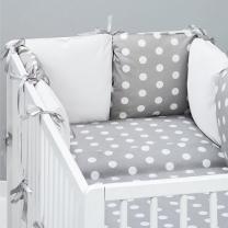 Bela 3-delna posteljnina SIVA PIKE 120x90 cm, Balbina